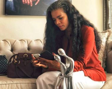 Connie Ferguson plays Harriet Khoza in The Queen and Twitter can't believe how rude her son was to her.