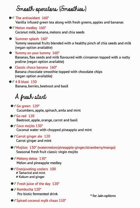 Enerjuvate Studio & Cafe menu 1