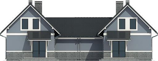 Cypisek II z garażem 1-st. bliźniak A-BL - Elewacja tylna