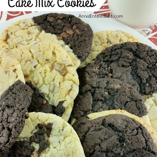 Black and White Cake Mix Cookies