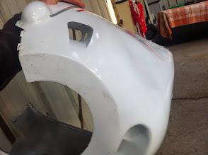 Photo: modif capot moteur, -15°C, refroidissement direct cylindres