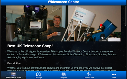 Widescreen Telescopes Centre- screenshot thumbnail