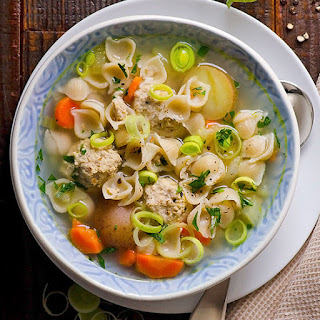 Turkey Meatball and Pasta Soup