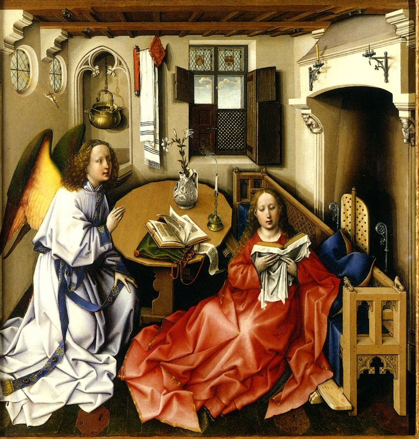 Center Panel of the Merode Altarpiece by Robert Campin
