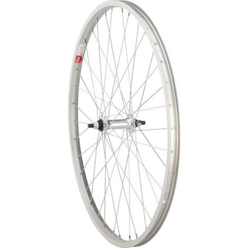 "Sta-Tru Silver Front Wheel 26x1.5"" Solid Axle with 36 Spokes"