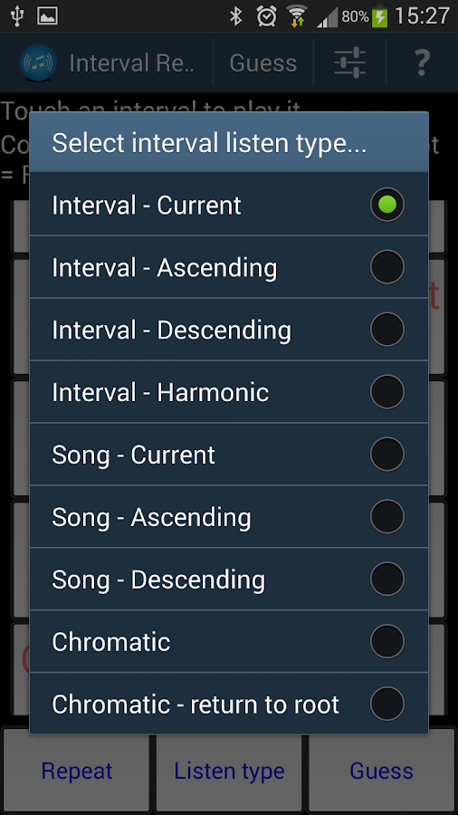 Interval Recognition-Ear Train- screenshot