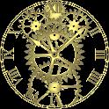 Brass Gears Clock LWP Free icon