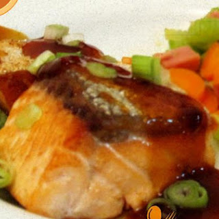 Salmon With Teriyaki/chilli Sauce.