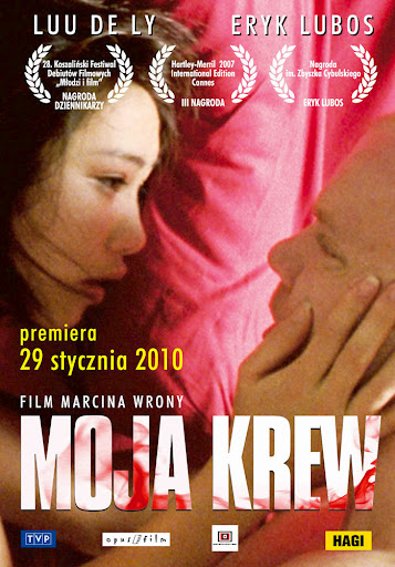 Przód ulotki filmu 'Moja Krew'
