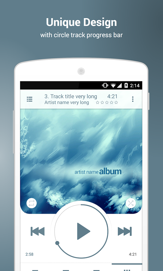 NRG Player music player- screenshot