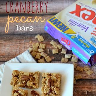 Vanilla Chex Cranberry Pecan Bars