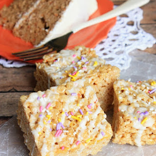 Carrot Cake Rice Krispies Treats.