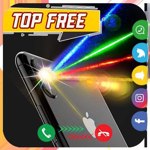 Flash Light Alert Calls & SMS colors 2019 icon