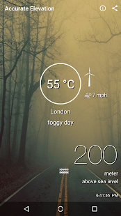 HyperLocal Weather By Current Elevation Android Apps On - London elevation above sea level