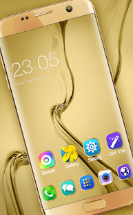 Theme for Samsung Galaxy S8: Gold wallpaper HD - náhled