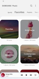 Samsung Music - náhled