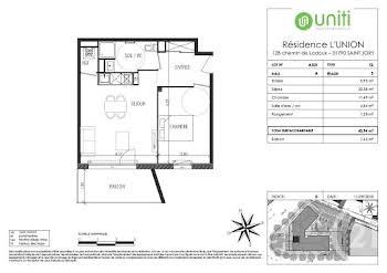 Appartement 2 pièces 43,94 m2