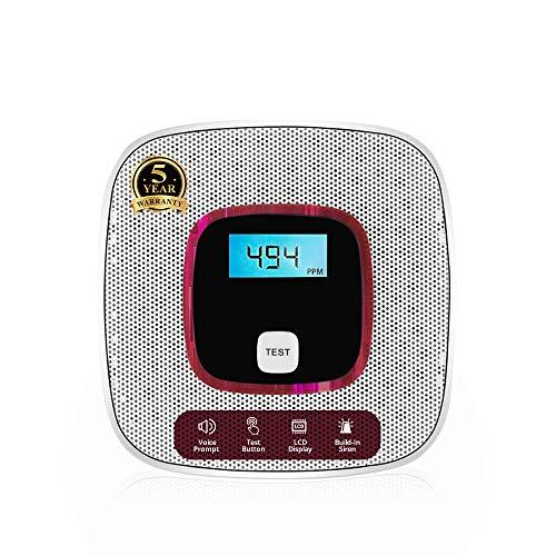 Carbon Monoxide Detector Alarm - with Digital LCD Display and Voice...