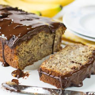 Banana Bread with Chocolate Glaze