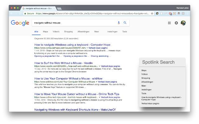 Spotlink - Mouseless browsing