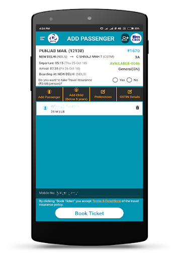 IRCTC  screenshot 6