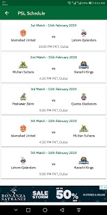 Download PSL Schedule 2019' Psl 4 Schedule, Live Score Psl For PC Windows and Mac apk screenshot 1