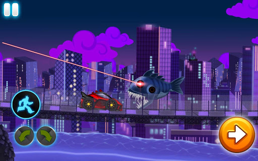 Dino Robot Wars: City Driving and Shooting Game