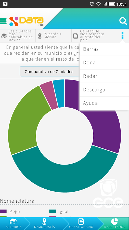 XData GCE: Explotador de Datos- screenshot
