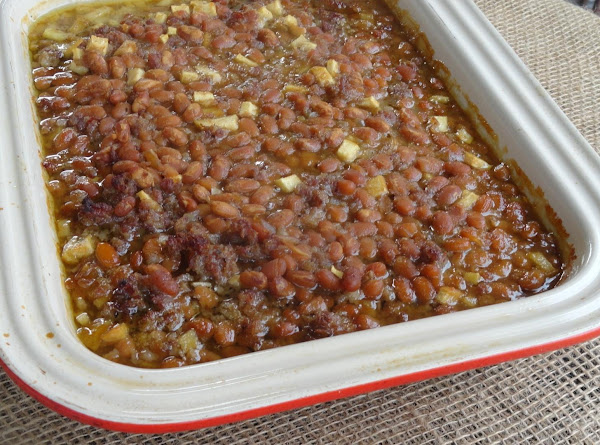 Spicy Apple Baked Beans Recipe