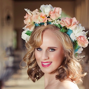 The Flower Princess by Gerrie van der Walt - People Fashion ( , best female portraiture )