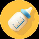 Baby Breastfeeding Tracker. Newborn Baby Care App Icon