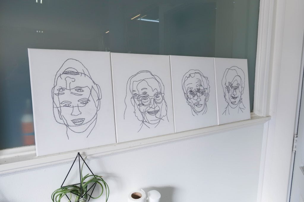 Kevin Warth: 4 embroidery portraits