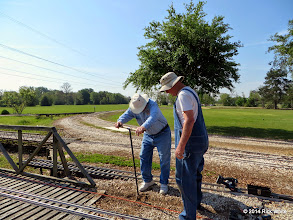 Photo: Bill Howe digging while Ken Smith supervises.    HALS Public Run Day 2014-0419 RPW  10:02 AM