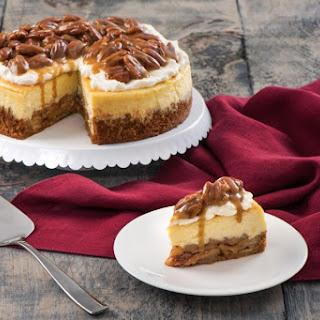 Praline Apple Pie Cheesecake.