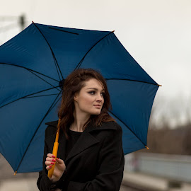 rainy day by Irina Ciurla - Uncategorized All Uncategorized ( model, dreamer, woman, umbrella, beauty )