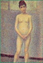 Photo: neoimpressionnisme  Georges Seurat Poseuse de face 1886-1887
