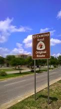 Photo: El Camino sign, Allen Parkway, San Marcos