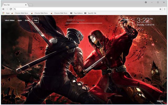 Ninja HD Wallpapers Shinobi New Tab Themes