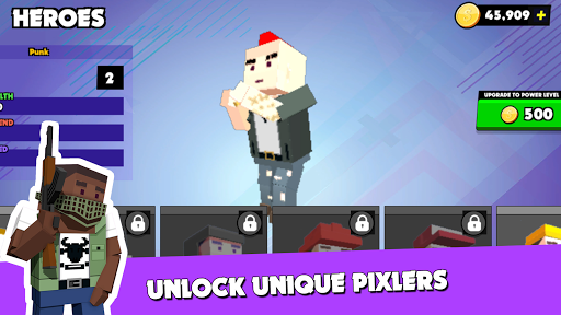 PIXEL ROYALE™ GUN 3D MOBILE UNKNOWN BATTLE GROUND APK MOD (Astuce) screenshots 3