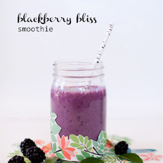 Blackberry bliss smoothie from This Little Street.