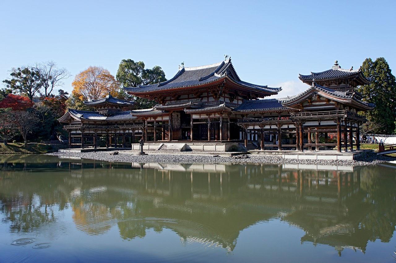 el templo Byōdō-in (平等院) o salón del fénix Fue construido en el periodo Heian por el clan Fujiwara