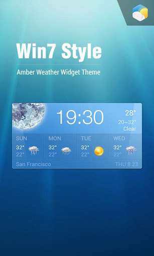 Win7 Clock Weather Widget