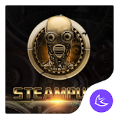 Golden SteamPunk - APUS Launcher  theme