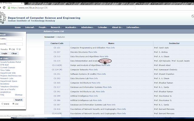 IIT-B CS Courses Inline Load