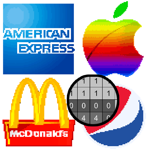 American Logo Color by Number - Pixel Art Coloring Icon