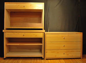Photo: Sing dressers come in a variety of combinations of shelves and drawers.