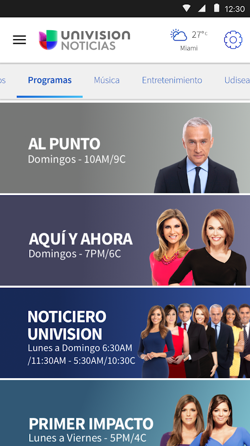 Univision Noticias- screenshot