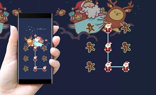 Santa Claus APP Lock Theme xmas Pin Lock Screen - náhled