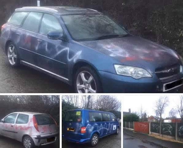 Village anger over graffiti attack