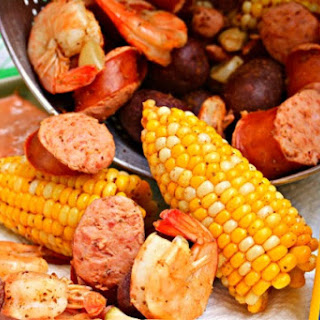 Low-Country Shrimp Boil with Spicy Remoulade.
